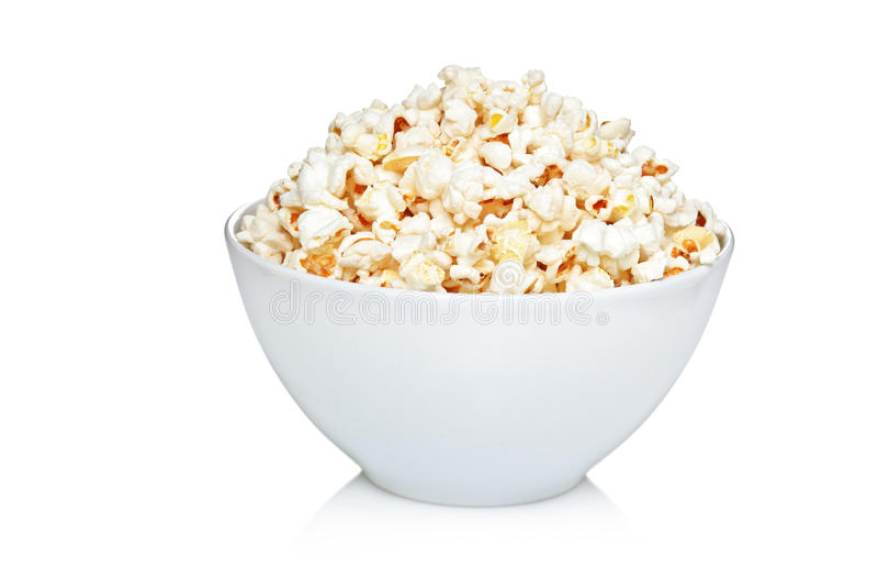 Kom popcorn stock foto
