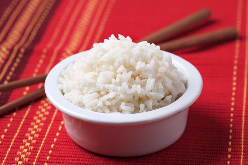 Kom rijst royalty-vrije stock foto's