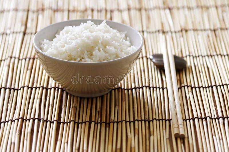 Kom rijst stock afbeelding