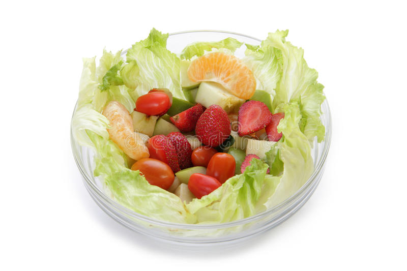 Kom verse salade royalty-vrije stock fotografie