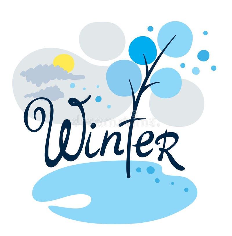 kom vintern vektor illustrationer