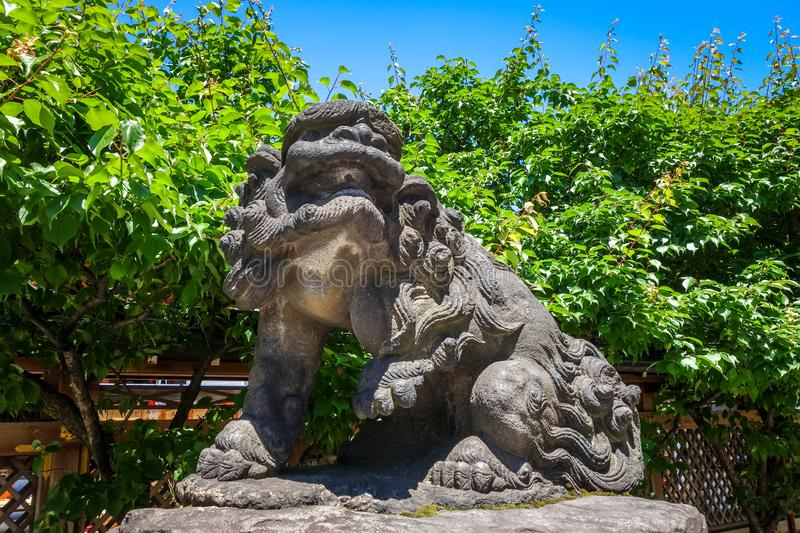 Komainu lion dog statue, Tokyo, Japan royalty free stock image
