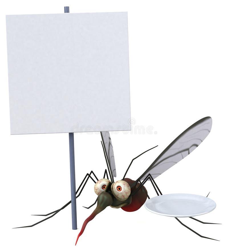 Komar - 3D ilustracja ilustracja wektor