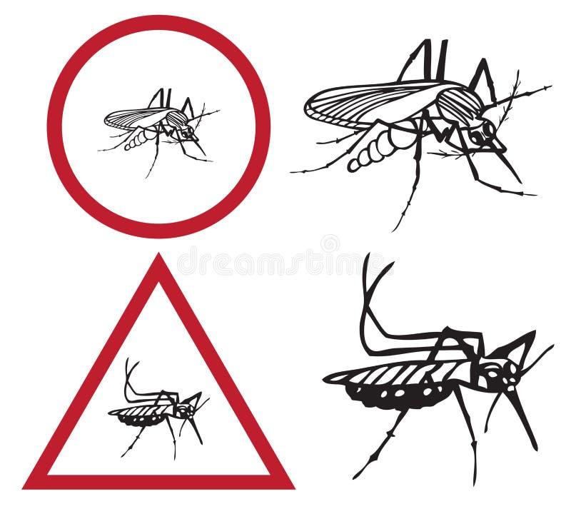 Komar jest znakiem uwaga royalty ilustracja