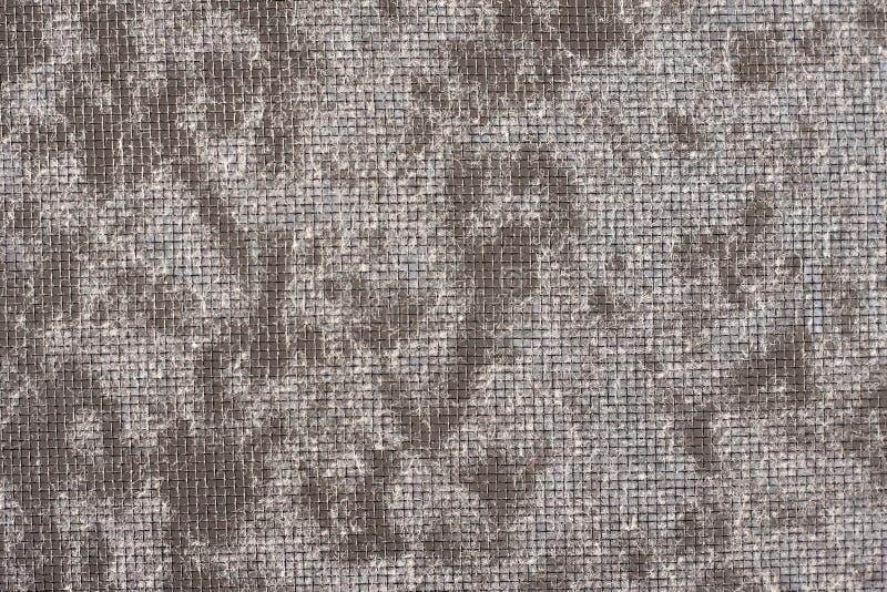 Komara druciany ekran z fibril, abstrakcjonistyczny tło fotografia stock