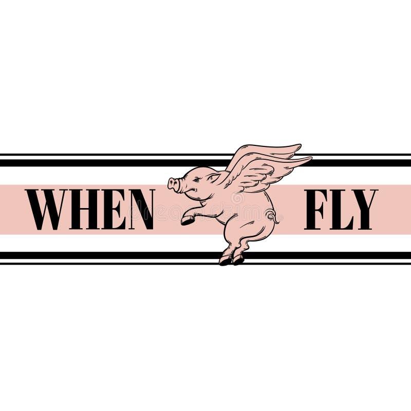 komarnic świnie Wycena Typographical tło ilustracji
