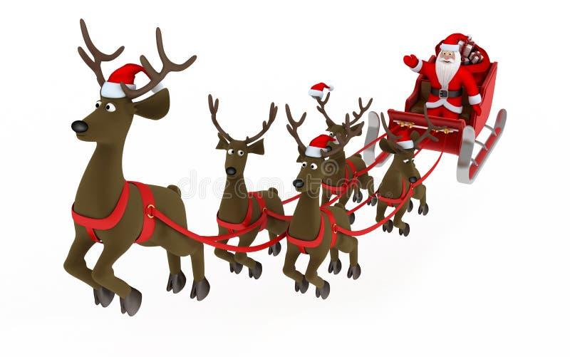 komarnica Santa ilustracji