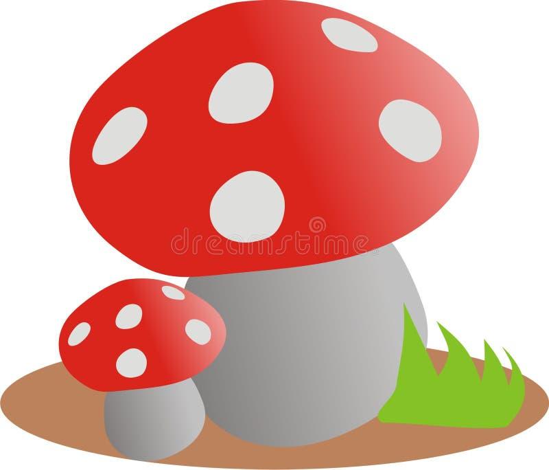 Download Komarnicy bedłka ilustracja wektor. Ilustracja złożonej z pieczarka - 13327564