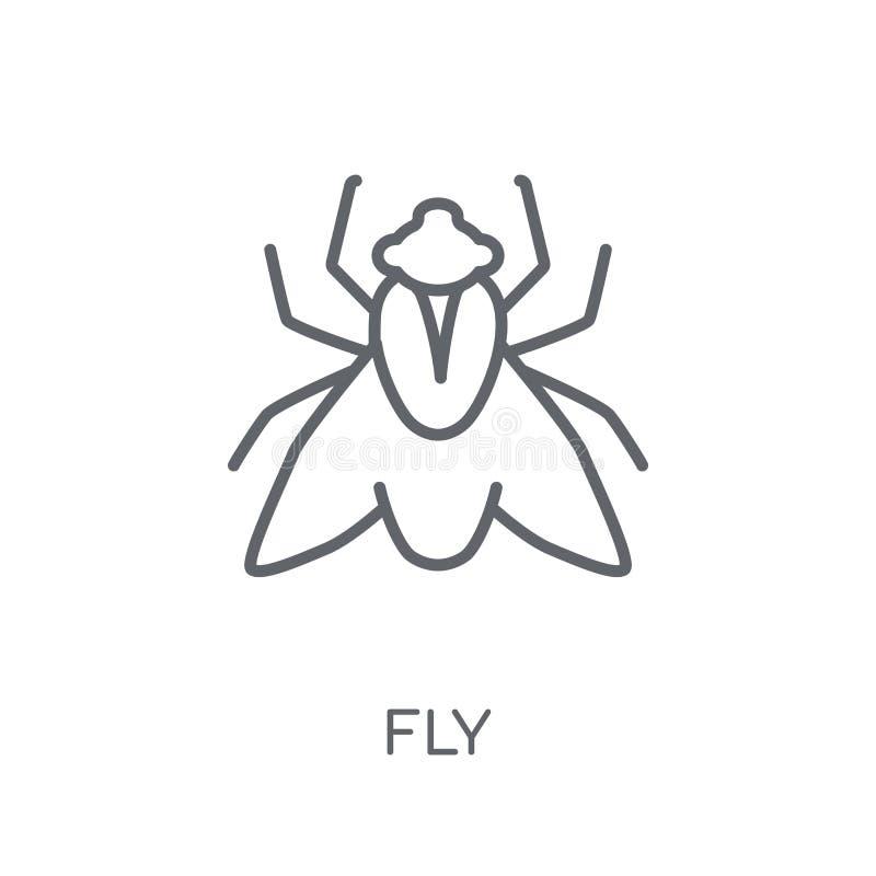 Komarnicy liniowa ikona Nowożytny kontur komarnicy logo pojęcie na białym backgr ilustracji
