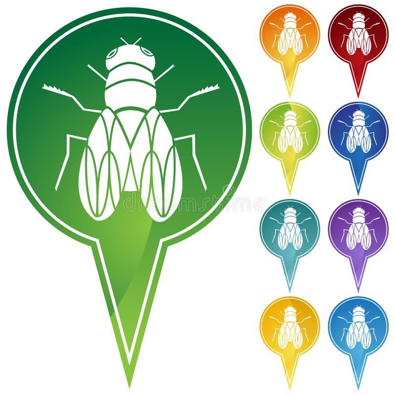 komarnicy markiera punkty ilustracja wektor