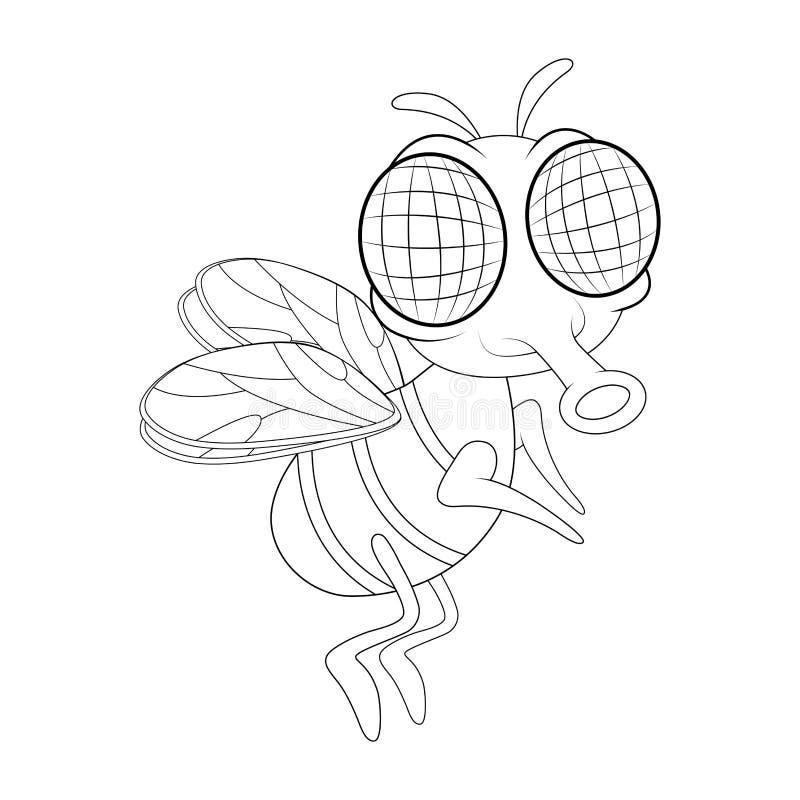 Komarnicy postać z kreskówki wektorowy projekt odizolowywający na białym tle ilustracja wektor