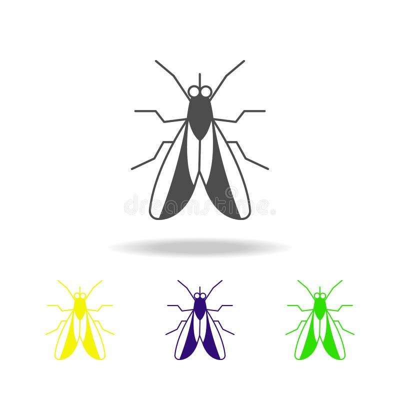komarnicy stubarwna ikona Elementy insekt stubarwna ikona Znaki i symbol inkasowa ikona mogą używać dla sieci, logo, wisząca ozdo ilustracja wektor