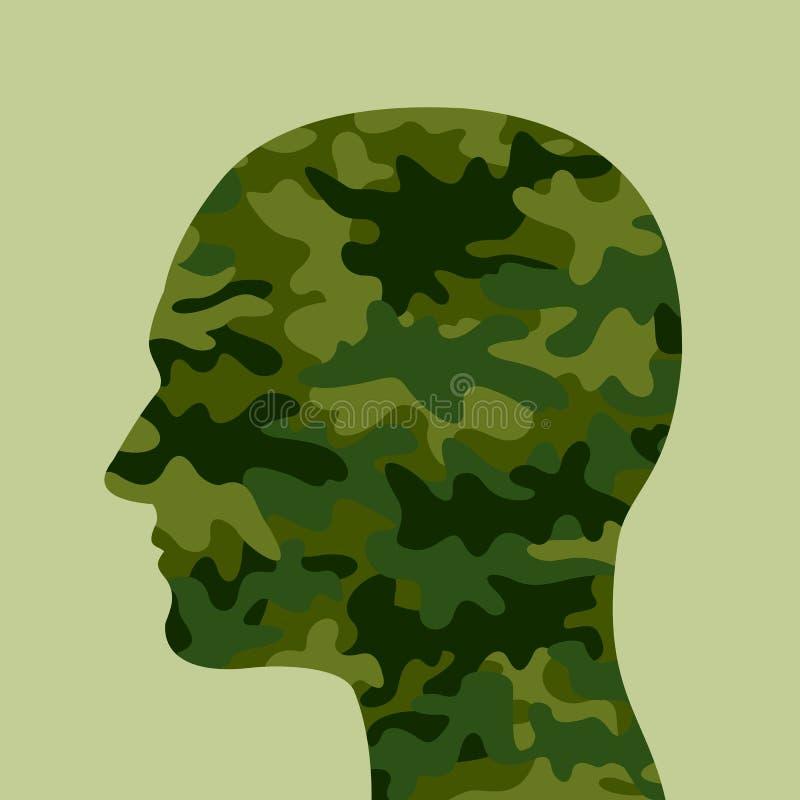 Kombattant- och för soldat I armé royaltyfri illustrationer