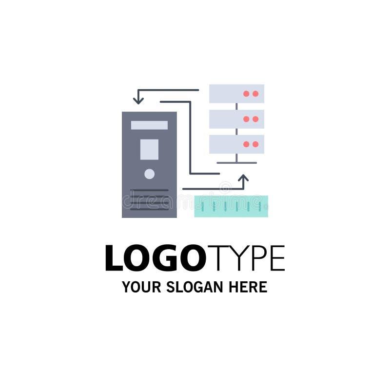 Kombinacja, dane, baza danych, elektroniczny, ewidencyjny Płaski kolor ikony wektor, ilustracja wektor