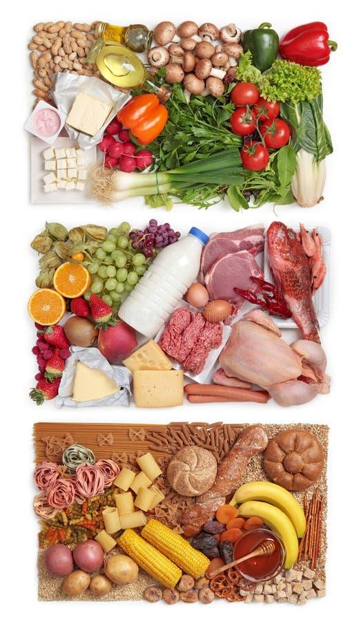 kombination av matgrupper arkivbilder