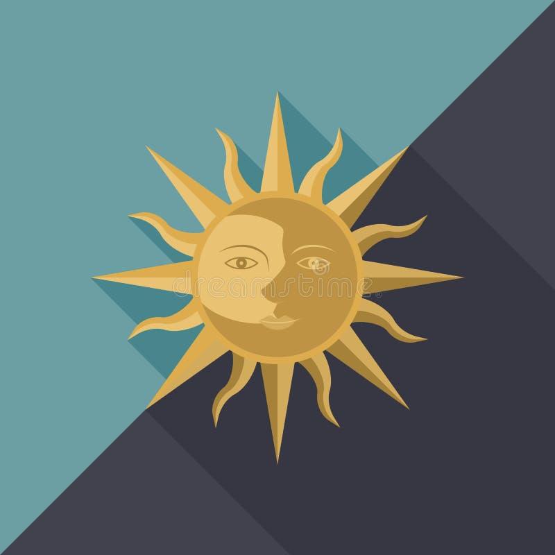 Kombination av solen stock illustrationer