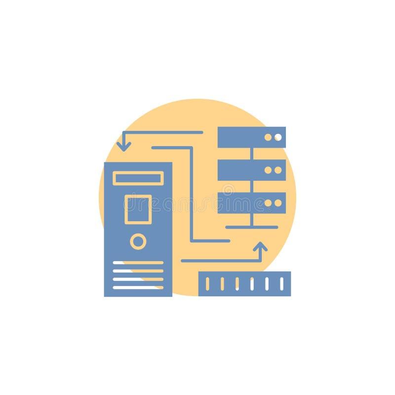 Kombination, Daten, Datenbank, elektronisch, Informationen Glyph-Ikone lizenzfreie abbildung