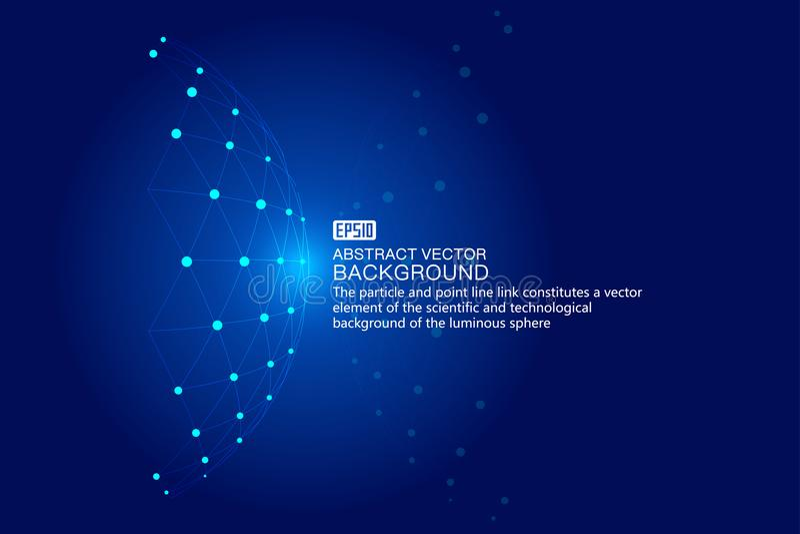 Kombination der punktierten Linie des hellen Technologiehintergrund-, wissenschaftlichem und technologischemeffektes der Vektorel vektor abbildung