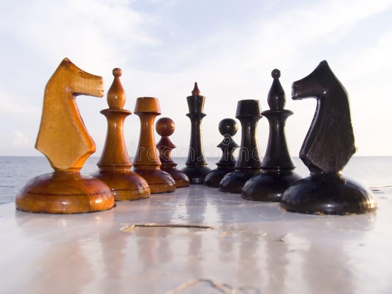 Kombination von den Chessmen lizenzfreie stockfotografie