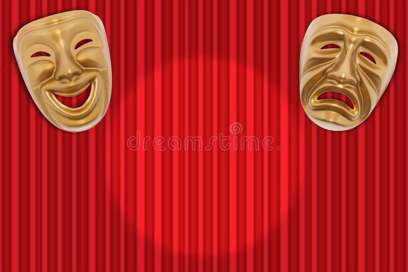 Scenisken maskerar arkivbild