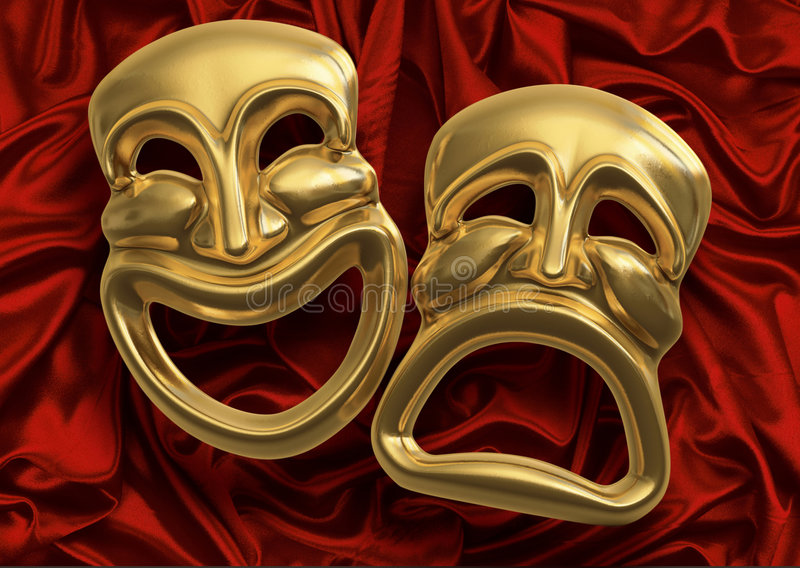 komedia maskuje tragedii ilustracja wektor