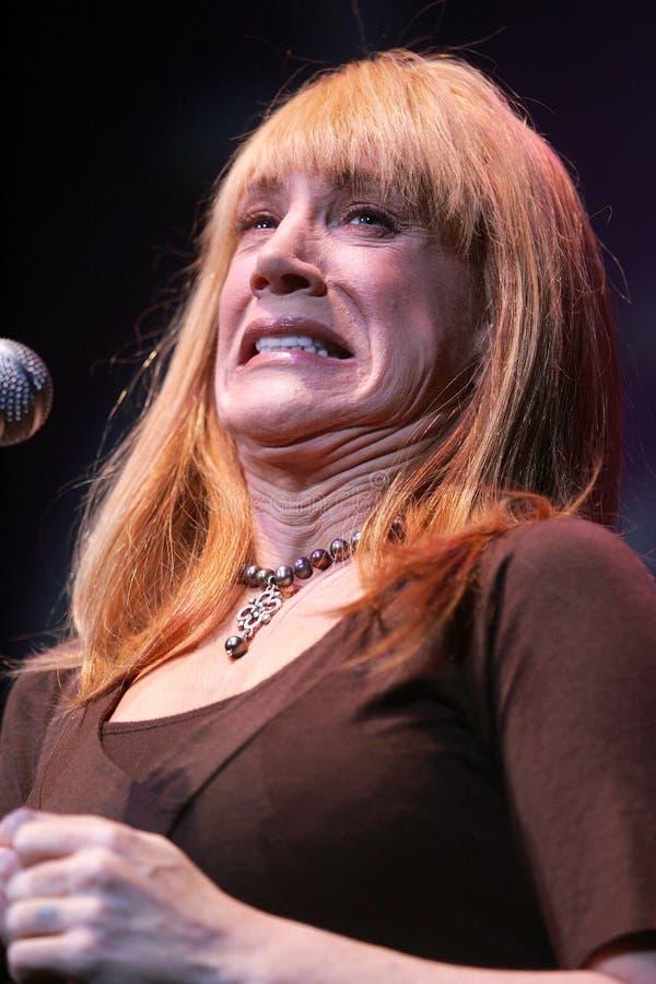 Komedianta Kathy gryf wykonuje zdjęcie stock