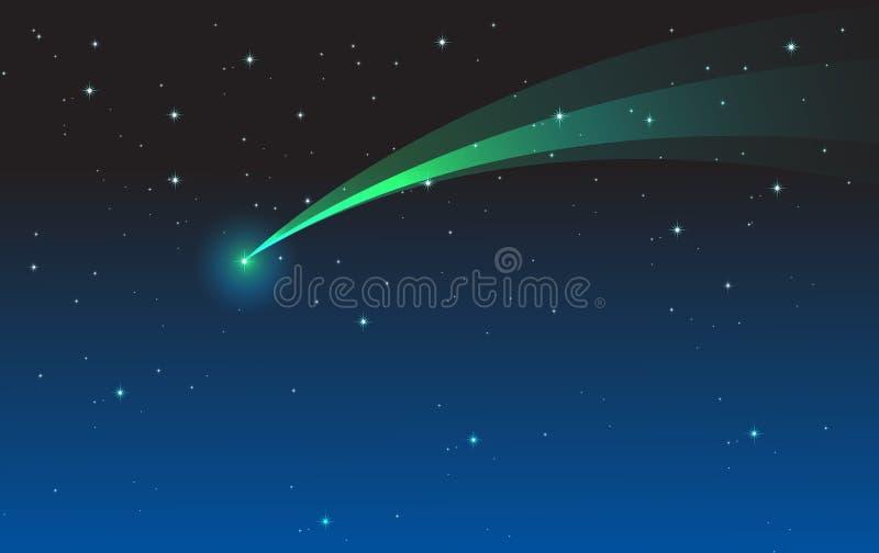 Komeet stock illustratie