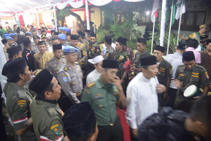 Komendant Policji Tito Karnavian odwiedzał Pondok Pesantren Raudlatut Thalibin Rembang zdjęcie royalty free