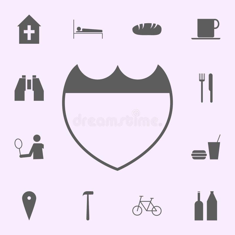 Komendy Policji ikona znaki szpilek ikon og?lnoludzki ustawiaj?cy dla sieci i wisz?cej ozdoby ilustracji