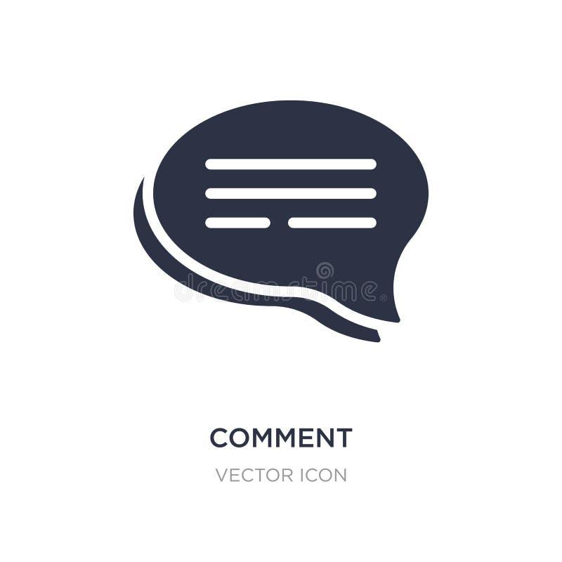 Komentarz ikona na białym tle Prosta element ilustracja od Blogger i influencer pojęcia ilustracji