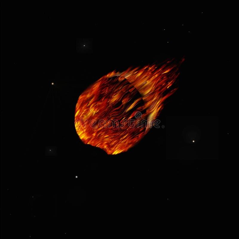Komet vektor abbildung