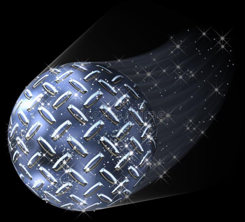 Komet för diamantplattaplanet royaltyfri illustrationer