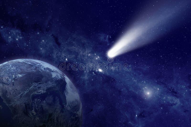 Komet im Raum stockfoto
