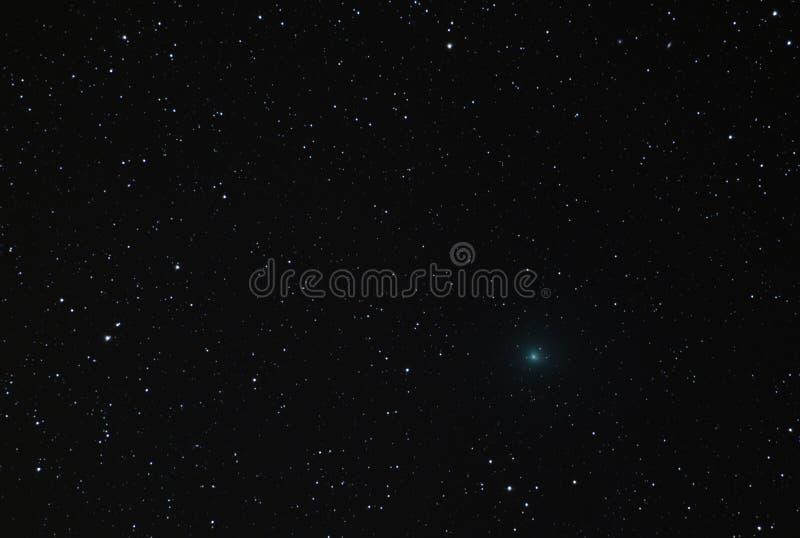 Komet 41P som korsar Ursa Major Constellation i 2017 royaltyfria foton