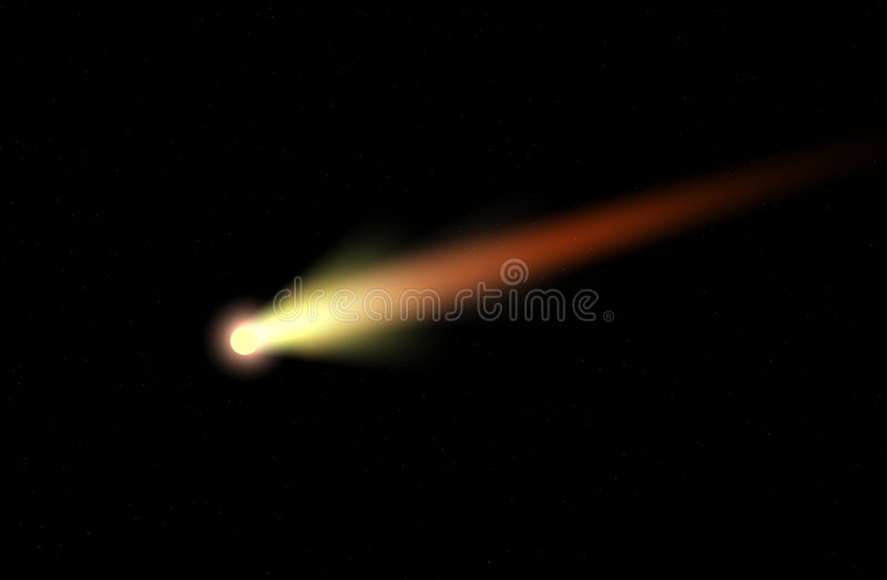 kometa royalty ilustracja