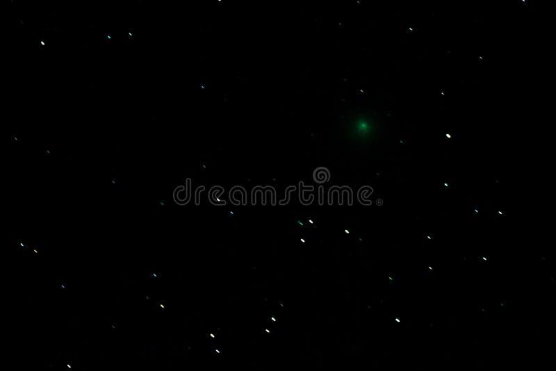 Kometa 46P/Wirtanen w nocnym niebie obrazy stock