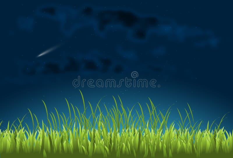 Kometa w nocnym niebie royalty ilustracja