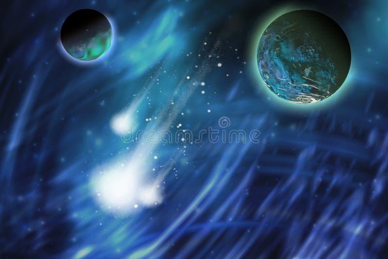 Kometen royalty-vrije illustratie