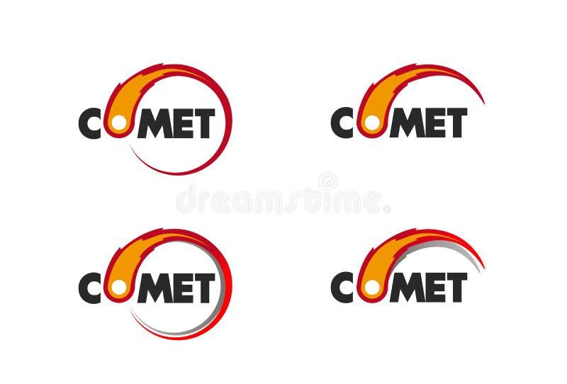 Kometflamma som är brinnande upp för affärslogo royaltyfri illustrationer