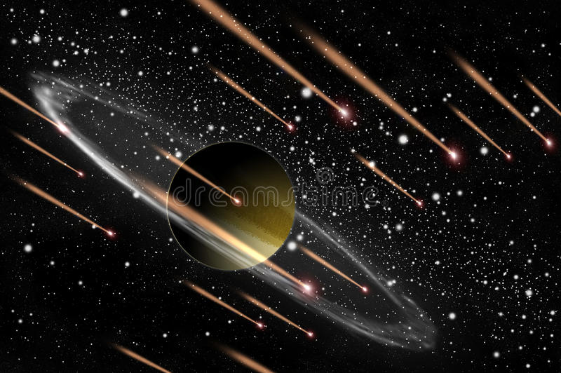 kometgasplanet vektor illustrationer