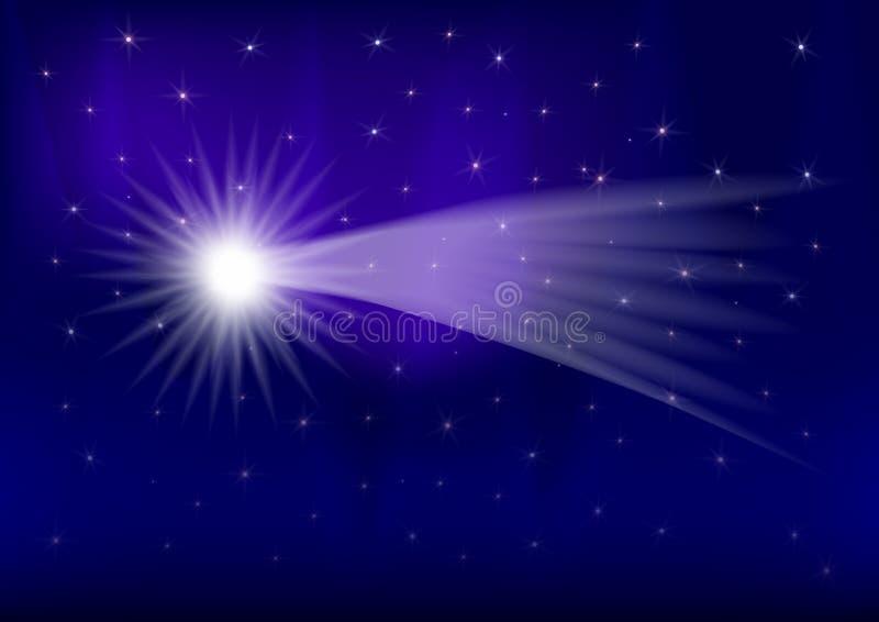 kometstjärna stock illustrationer