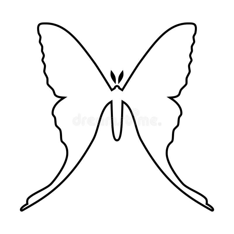Komety ćma wektorowa ikona odizolowywająca na bielu femaleness royalty ilustracja