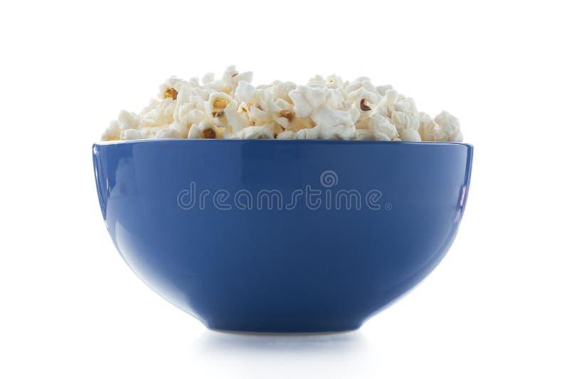 Komhoogtepunt van gezouten popcorn stock foto's