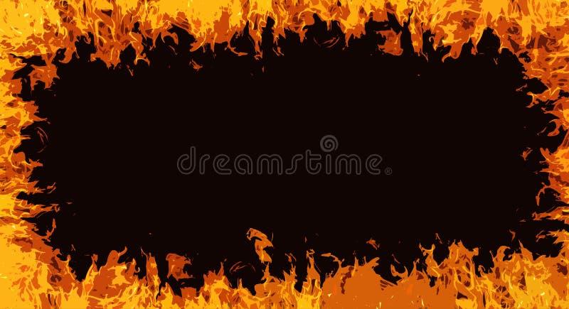 Komiczka ogień ilustracji