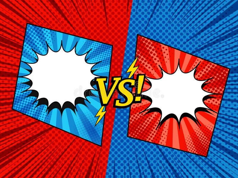 Komiczka versus elegancki szablon ilustracja wektor