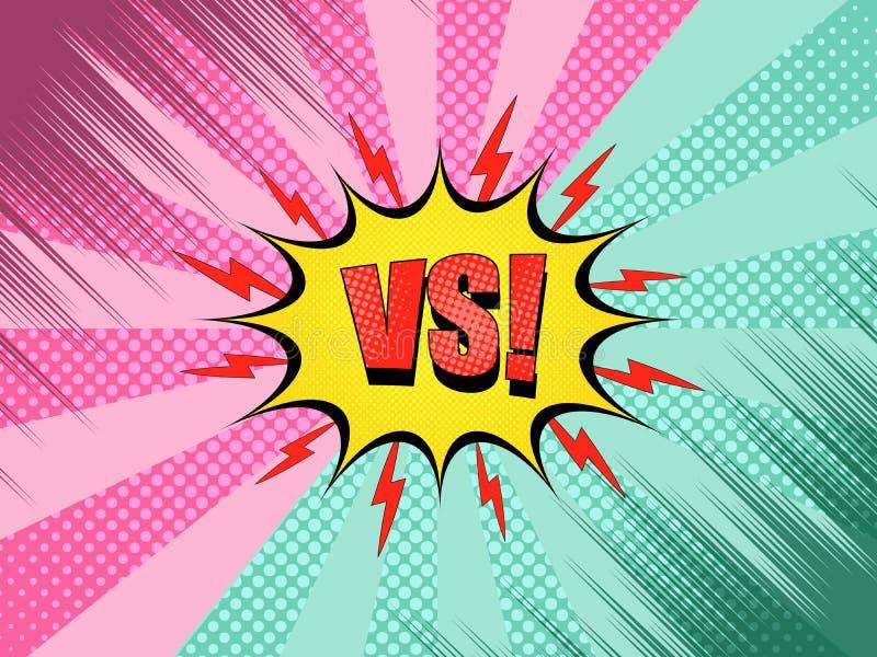 Komiczka versus t?o ilustracja wektor