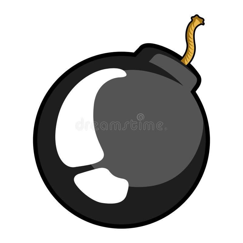 Komiczki bombowa ikona ilustracji