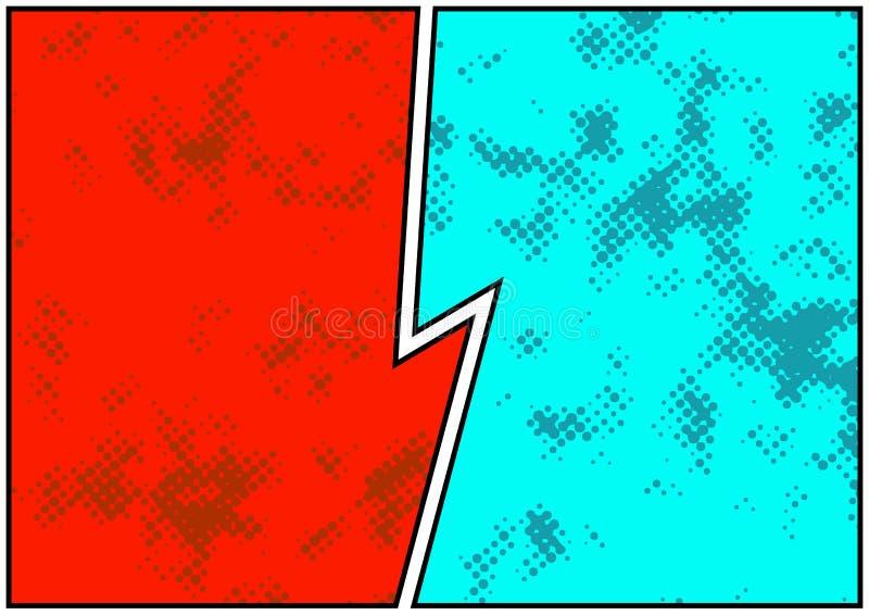 Komiczki opowieści pusta strona dostrzegająca i jaskrawa Retro komiczka pusta ilustracja wektor