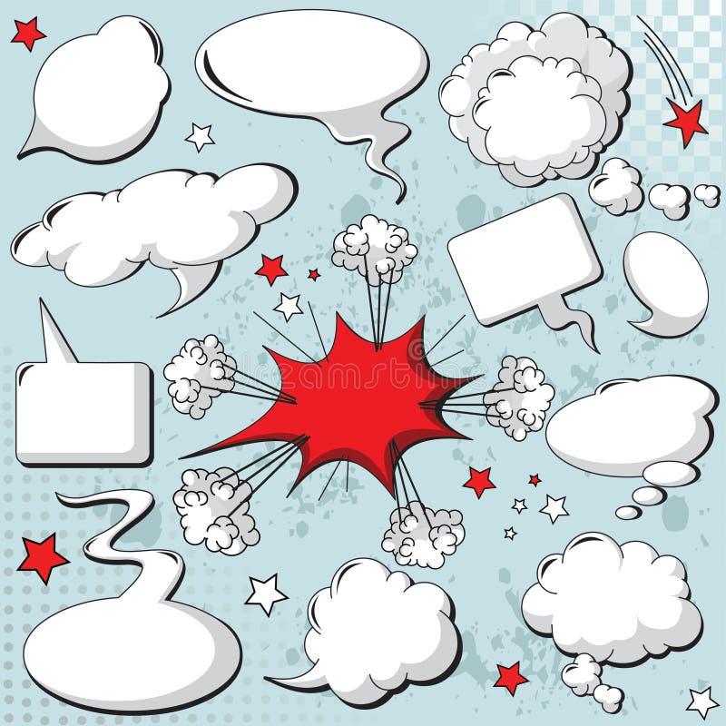 Komiczki projektują mowa bąble ilustracja wektor