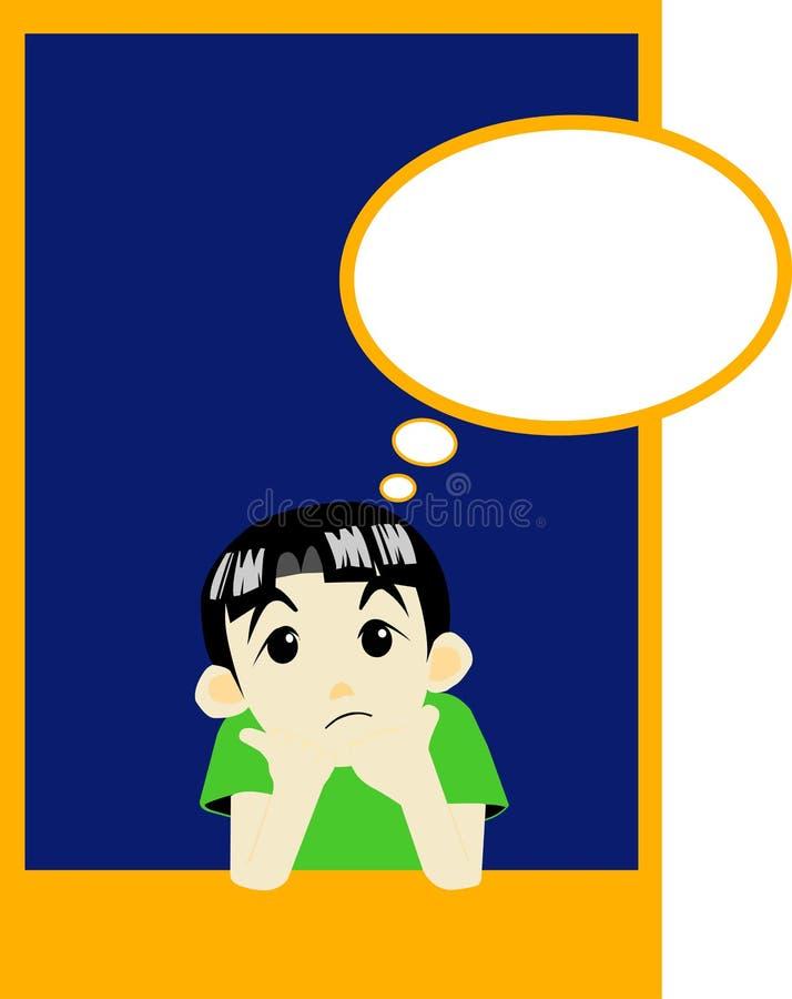 Komiczna chłopiec ilustracja wektor